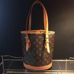 Authentic Louis Vuitton Petite Bucket Tote Bag