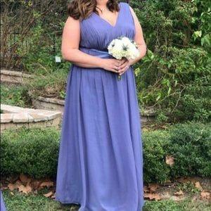 Steel Blue Chiffon Bridesmaid Dress Etsy, Renzrags