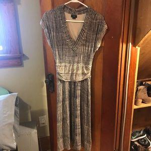 Anthropologie cotton midi dress