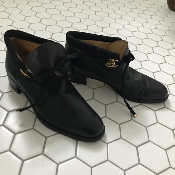 c249eb6a51a Vintage parlanti Botticelli black leather boots. M 59ecca68f0137d0b4b0883bc