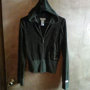Baby Phat hooded plush jacket with pocket