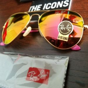 RAYBAN AVIATOR PINK LENS 100% AUTHENTIC!