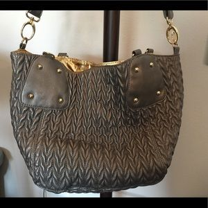 Big Buddha Gunmetal & Gold Bag