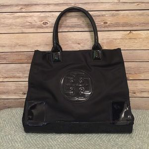Tory Burch Black Mini Ella Tote