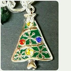 Jewelry - 3/$30 Christmas Charm Bracelet Toggle Silvertone
