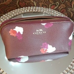 Coach flower cosmetic case
