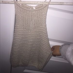 hollister crochet tank!