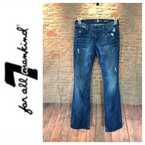 💸7 for All Mankind Bootcut denim Jean size 27