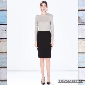 ZARA Woman Basic Black Pencil Skirt
