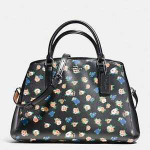 Coach Small Margot Carryall Tea Rose Floral Print
