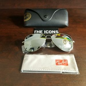 RAYBAN AVIATOR SILVER FLASH 100% AUTHENTIC!