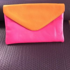 J Crew envelope clutch or shoulder purse