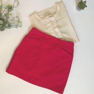 LOFT Hot Pink Career Skirt
