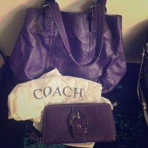 Coach purse and Coach wallet