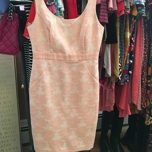 Flora Peach Color Sheath Dress