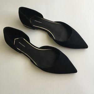 Zara Basic Suede Slip On Flats