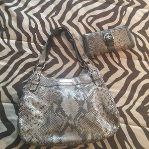 Coach snakeskin hobo and wallet