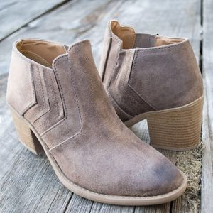 Tan Distressed Ankle Boots
