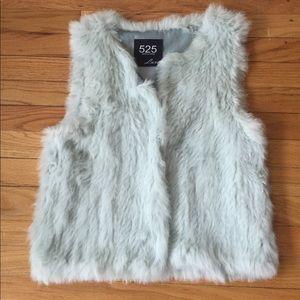 525America Ice blue rabbit vest