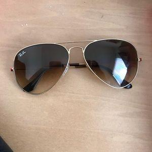 Ray ban brown Gradient Aviator Sunglasses