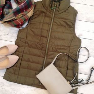 NWT Olive Green Puffer Vest