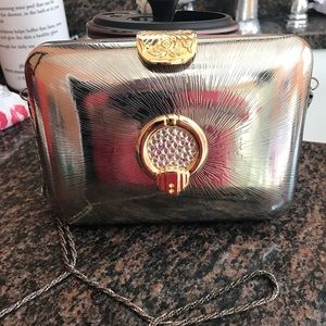 Classy pewter evening purse, perfect Condition!!