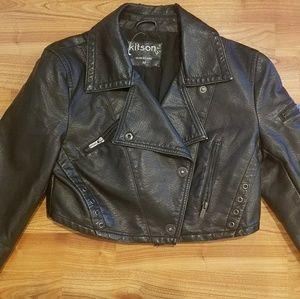 NEW NWOT Kitson moto crop jacket M