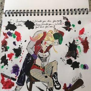 Joker and Harley custom artwork acrylic