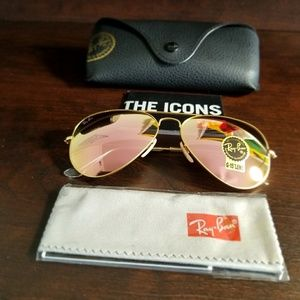 RAYBAN AVIATOR COPPER FLASH 100% AUTHENTIC!