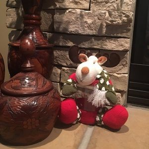 Christmas Moose candy jar