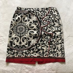 EUC skirt with front ruffle