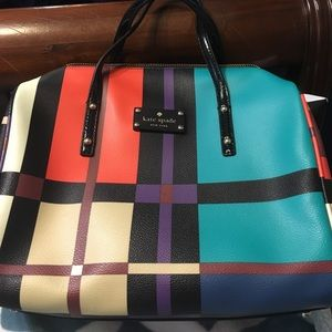 Stunning NWOT Kate spade plaid purse!!