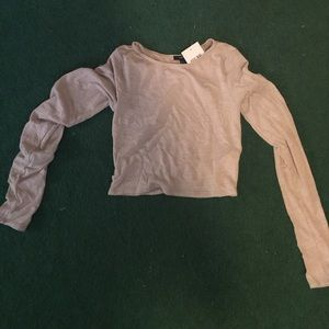 NWT forever 21 long sleeve crop top