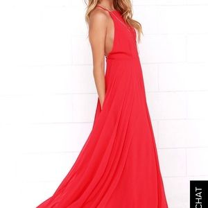 Lulus Mythical Kind of Love Maxi Dress in Red