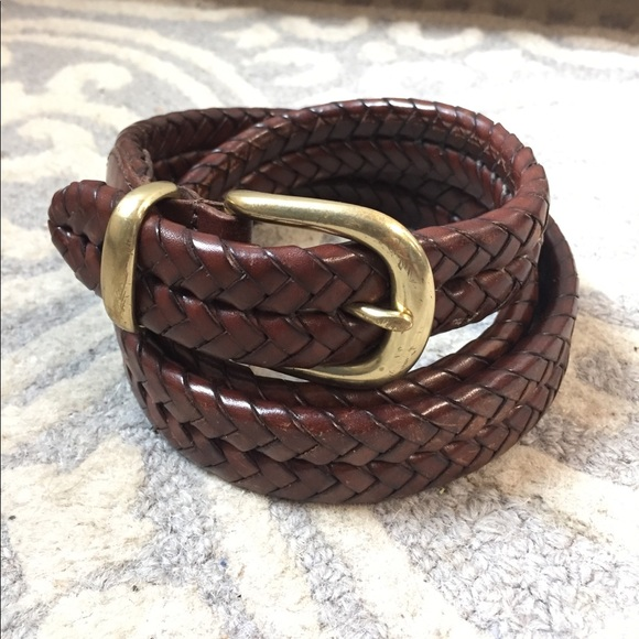 Coach Accessories Mens Brown Braided Leather Belt Poshmark