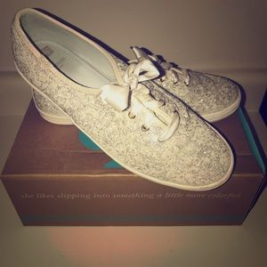 Kate Spade Champion Glitter Keds - Worn Once
