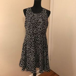 Black and White Polkadot Dress XL