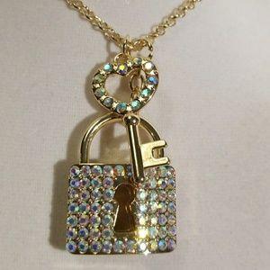 Large Lock & Key Pendant Crystals
