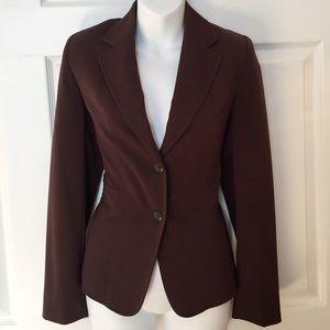 Chocolate brown suit coat