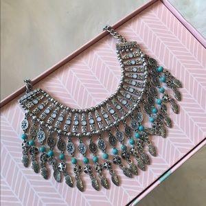 Metal Tribal Design Necklace