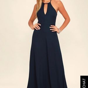 Lulus Beauty and Grace Maxi Dress in Navy