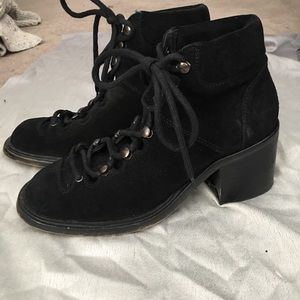 JC lace up booties