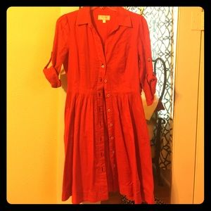 Orange Shirt Dress from Anthropologie