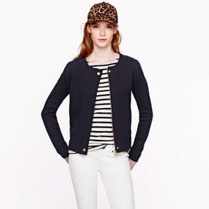 J.Crew merino zip sweater jacket