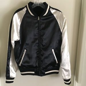 Brandy Melville reversible bomber jacket