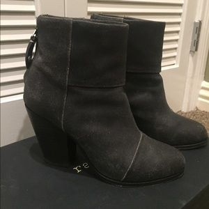 Rag & bone black suede booties
