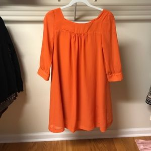 H&M orange shirt dress. Size 6.