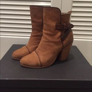 Rag & bone chestnut suede booties