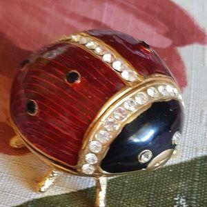 Ladybug Jewelry Keeper w/Necklace