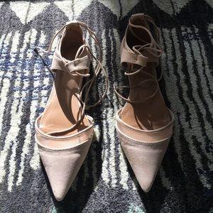 Zara pointed toe nude flats
